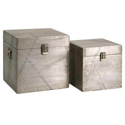 Jensen Aluminum Clad Boxes - Set of 2 - Mercer Collection