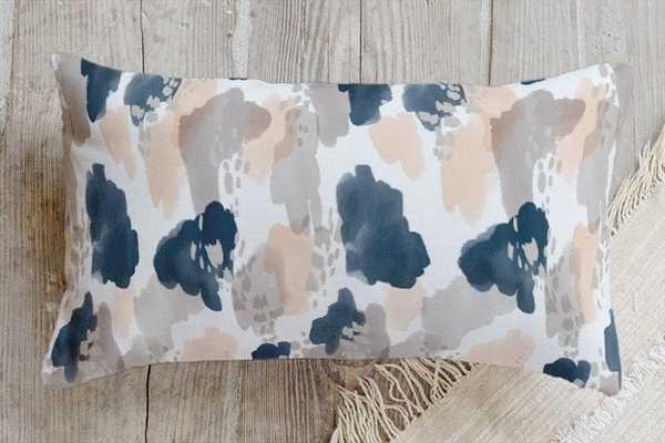 "Painterly splash pillow - Lumbar 21"" x 12"" - Alternative down insert - Minted"