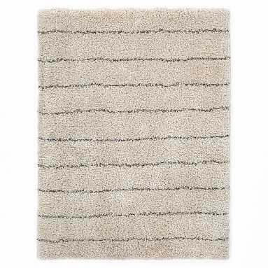 Striped Shag Rug, 8x10, Ivory/Charcoal - Pottery Barn Teen