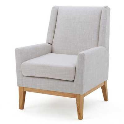 Heinrich Fabric Accent Chair- Beige - Hayneedle