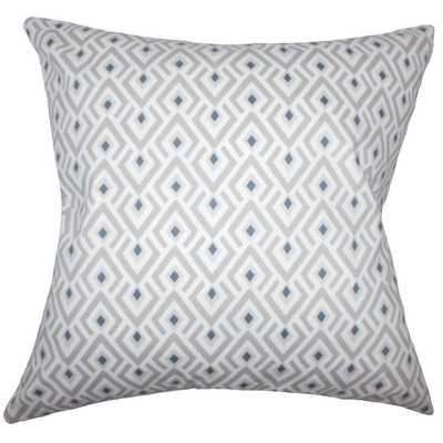 "Abhinav Geometric Pillow Gray - 20"" x 20"" with Poly Insert - Linen & Seam"