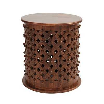 Bornova Side Table - Brown - Ballard Designs
