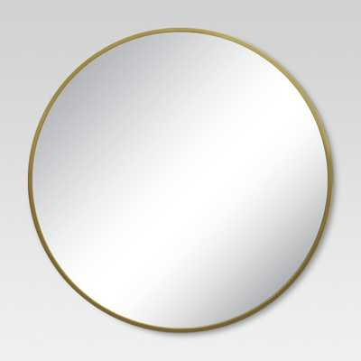 Round Decorative Wall Mirror Brass - Project 62™ - Target