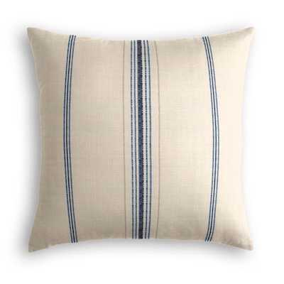 Throw Pillow  Burlap Of Luxury - Blueberry - 18x18- Down Insert - Loom Decor
