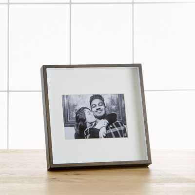 Brushed Antique Bronze 5x7 Frame - Crate and Barrel