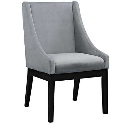 TIDE DINING UPHOLSTERED SIDE CHAIR IN GRAY - Modway Furniture