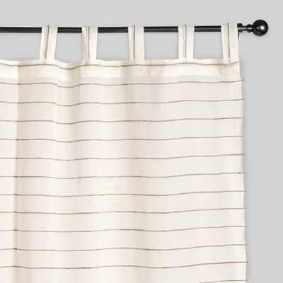 "Ivory Striped Sahaj Jute Curtains, Set of 2: White/Natural - Cotton - 84"" L by World Market 45""x84"" - World Market/Cost Plus"