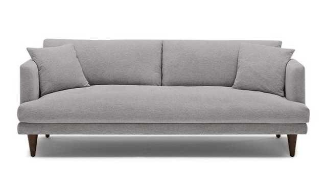 Gray Lewis Mid Century Modern Sofa - Taylor Felt Grey - Coffee Bean - Cone Legs - Joybird