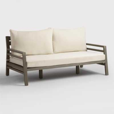 Gray San Sebastian Outdoor Patio Occasional Deep Bench - Wood by World Market - World Market/Cost Plus