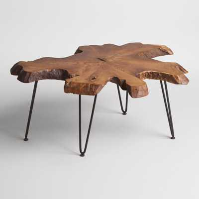 Wood Slice Coffee Table: Brown by World Market - World Market/Cost Plus