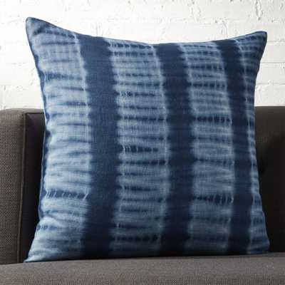 "23"" Indigo Blue Tie Dye Pillow with Feather-Down Insert - CB2"