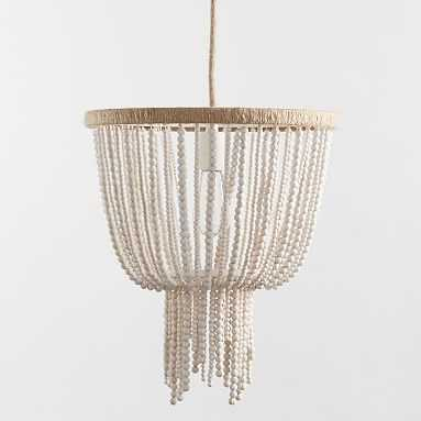Wood Beaded Chandelier - Pottery Barn Teen