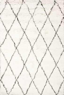 Hand Made Marrakech Shag Rug- Ivory-8' x 10' - Loom 23