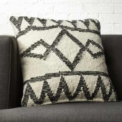 "20"" Asterix Geometric Pillow with Feather Down Insert"" - CB2"
