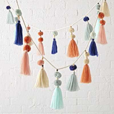 Pastel Tassel Garland - Crate and Barrel