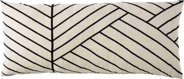 "36""x16"" forma pillow with down-alternative insert - CB2"