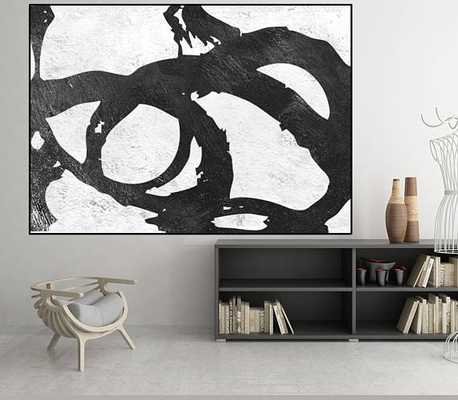 large art, original Acrylic painting, black and white wall art painting, canvas art, art for big wall, Contemporary Painting - Etsy