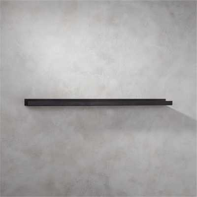 "Metal gunmetal wall shelf 48"" - CB2"