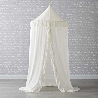 White Ruffle Playhouse Canopy - Crate and Barrel
