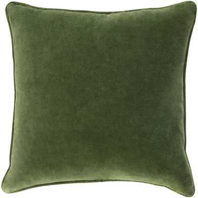 """Safflower- 18"""" x 18""""  Pillow Shell with Down Insert - Neva Home"""