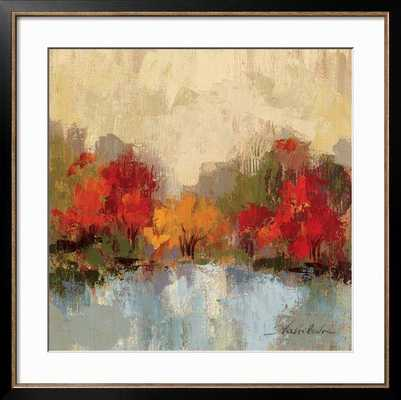 "FALL RIVERSIDE I By Silvia Vassileva- 30"" x 30""  Art Print- 36"" x 36"" Framed Art Print - art.com"