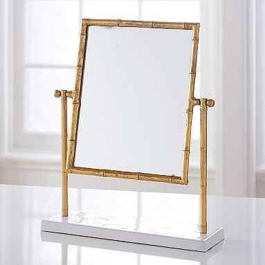 Gold Bamboo Vanity Mirror - Pottery Barn Teen