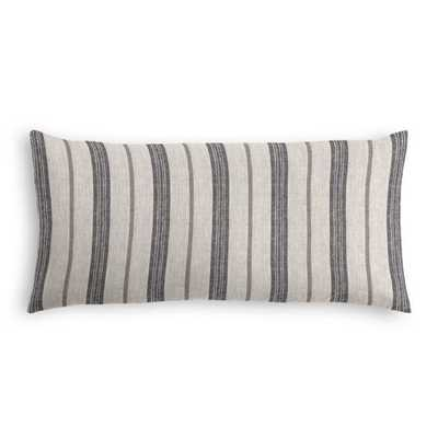Farm To Table - Ash - Lumbar Pillow - Down Insert - Loom Decor