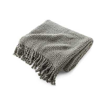 Cozy Weave Grey Throw - Crate and Barrel