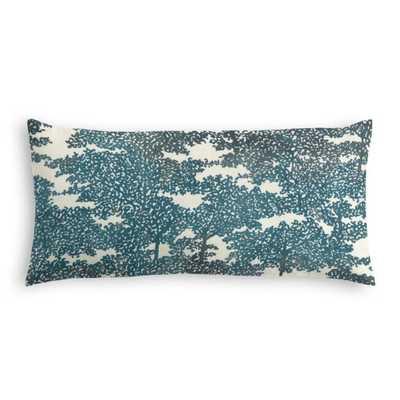 Lumbar Pillow Peirowood - Peacock - Down Insert - Loom Decor
