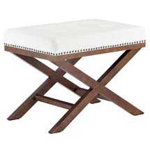 FACET WOOD BENCH IN IVORY - Modway Furniture