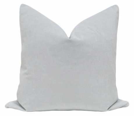"""Signature Velvet // Mist, 22"""" Pillow Cover - Little Design Company"""