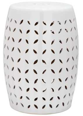 Lattice Petal White Garden Patio Stool - Arlo Home