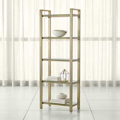 Pilsen Brass Bookcase - Crate and Barrel