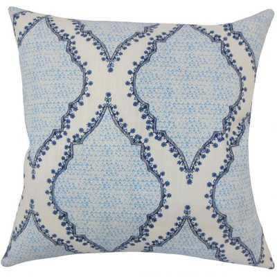 WILLEM IKAT PILLOW BLUE - LUMBAR - Linen & Seam