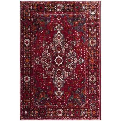Safavieh Vintage Hamadan Red/ Multi Area Rug (9' x 12') - Overstock