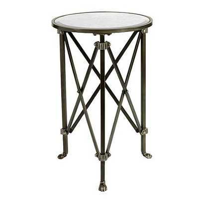 Olivia Mirrored Side Table - Oil Rubbed Bronze - Ballard Designs
