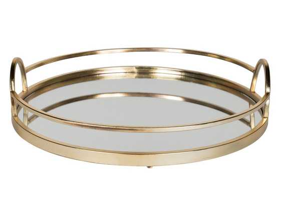 Gold Metal Accent Tray - Wayfair