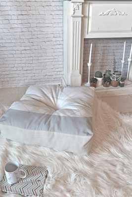 "ALASKAN GELATO Floor Pillow 23"" Square - Poly Fill - Wander Print Co."