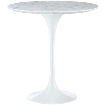 """LIPPA 20"""" MARBLE SIDE TABLE IN WHITE - Modway Furniture"""