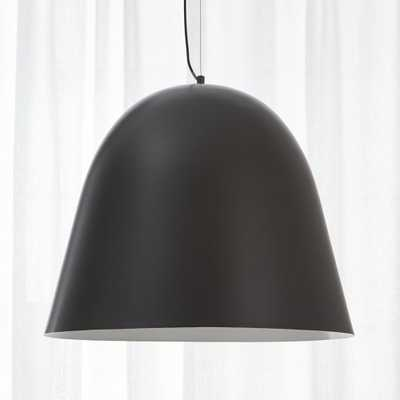 capitol pendant light - matte black - CB2