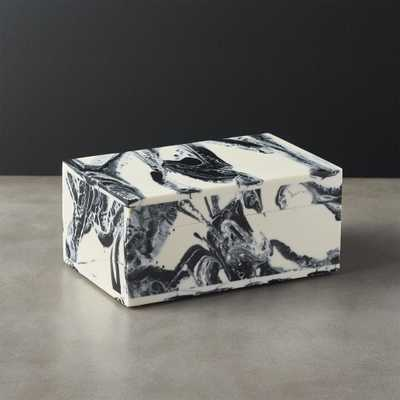 Pekoe Black and White Storage Box With Lid - CB2