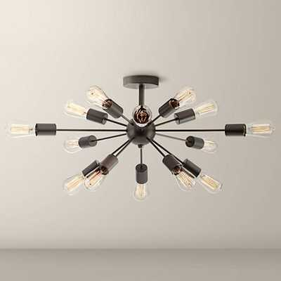 "Possini Euro Hemingson 26"" Wide Bronze LED Ceiling Light - Lamps Plus"
