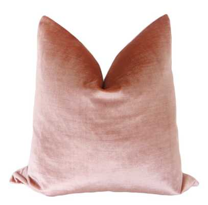 "Faux Silk Velvet // Rose Gold - 18"" - Little Design Company"