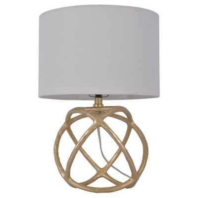 Cast Orb Figural Accent Lamp Accent Lamp - Gold - Target