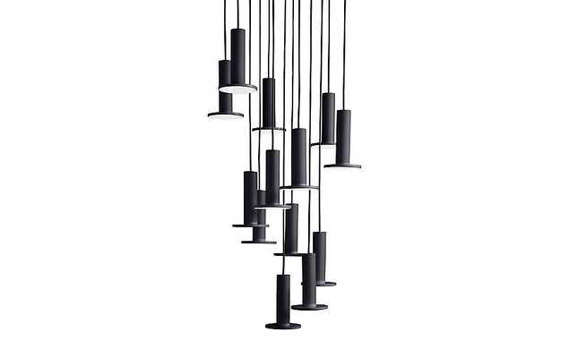 Cielo 13 Chandelier - Black - Design Within Reach