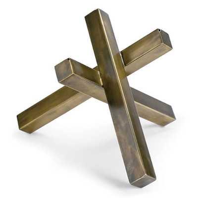 Intersecting Sculpture (Brass) - Regina Andrew