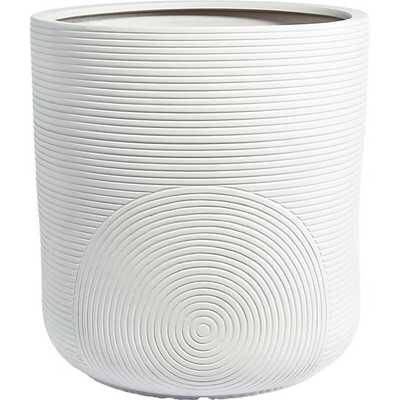 zen large white planter - CB2