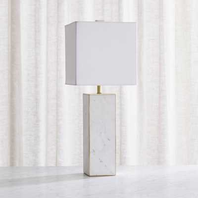 Adele White Marble Table Lamp - Crate and Barrel