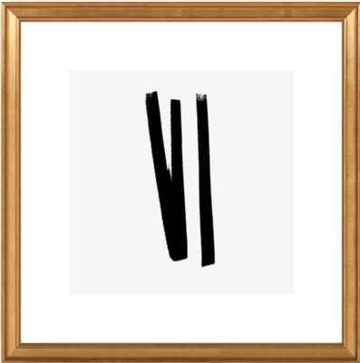 Lines 2, 1 - Framed Art Print - gold frame - Artfully Walls