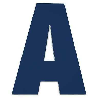 """Taylor Wall Letters, Letter A, 30"""" Painted Navy - Pottery Barn Teen"""